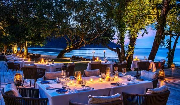 The Datai Langkawi - The Beach Club (Evening set-up)