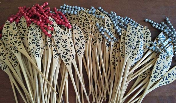 Abot painted bamboo bookmarks